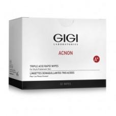 Трехкислотные одноразовые салфетки GiGi Acnon Triple Acid Rapid Wipes