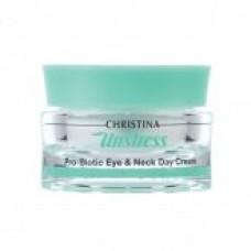 Дневной крем для кожи вокруг глаз и шеи Christina Unstress Pro-Biotic Eye & Neck Day Cream