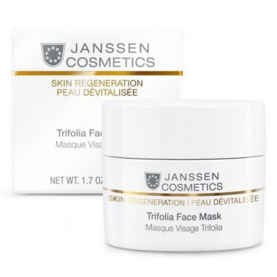 Лифтинговая маска с фитоэстрогенами Janssen Regeneration Skin Trifolia Face Mask