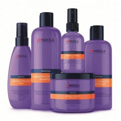 Набор для кератинового выпрямления волос Indola Keratin Straight