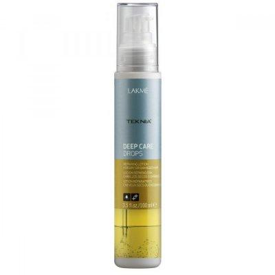Капли восстанавливающие  для сухих и поврежденных волос LAKME TEKNIA Deep Care Drops 100 мл