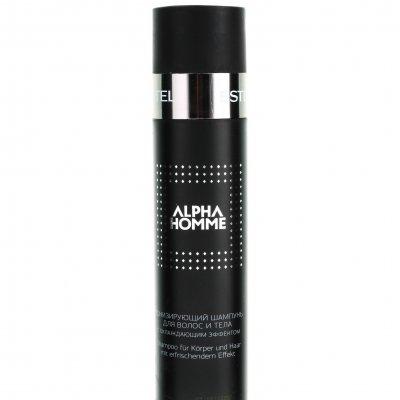Тонизирующий шампунь с охлаждающим эффектом для волос и тела Estel Professional Alpha Homme