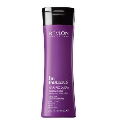 Очищающий шампунь с кератином Revlon Be Fabulous Hair Recovery Keratin Shampoo 250 мл