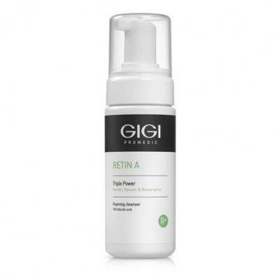 Мусс очищающий 10% гликолевой кислоты GIGI Triple Power Foaming Cleanser 120 мл