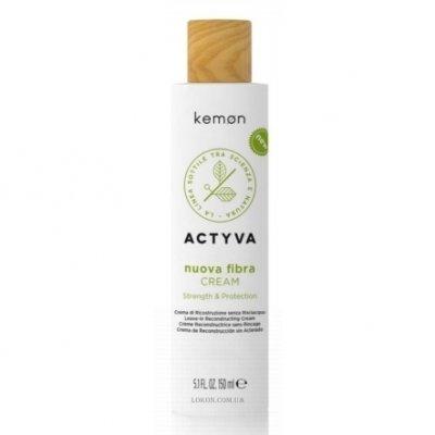 Защитный крем с комплексом создания связей (несмываемый) Kemon Actyva Nuova Fibra Cream BCC 150 мл