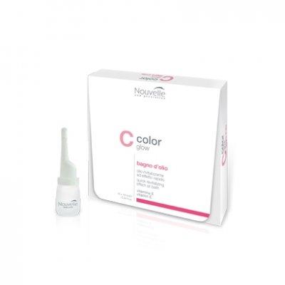 Средство для восстановления волос в ампулах (масло баня) Nouvelle Bagno d'olio 10*10 мл