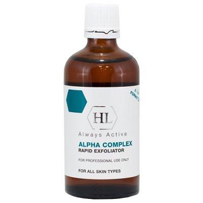 Химический пилинг увеличивающий уровень увлажненности кожи 8% Holy Land Alpha Complex Rapid Exfoliator 100 мл