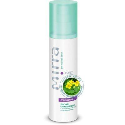 Лосьон очищающий для жирной кожи с экстрактами чистотела и тысячелистника Mirra Daily 125 мл