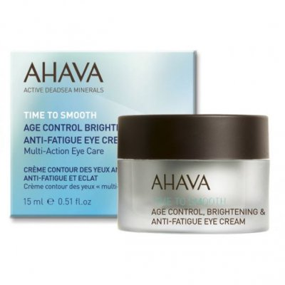 Крем омолаживающий для кожи вокруг глаз Ahava Time to smooth Age control Brightening & Anti-fatigue Multi-care Eye cream 15 мл