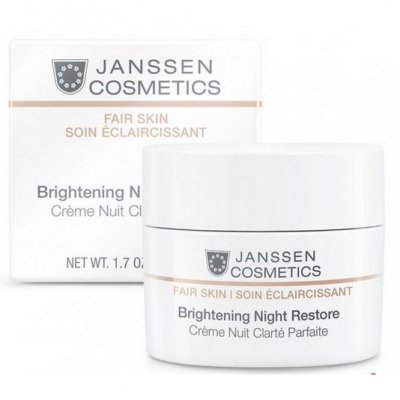 Ночной осветляющий крем Janssen Fair Skin Brightening Night Restore